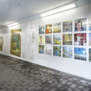 Motherwell Underpass Graphic Tile Artwork