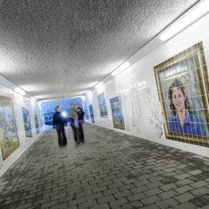 Motherwell Underpass Regeneration Tiling