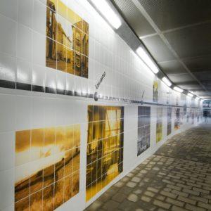 Graphic Tiled Underpass Motherwell, Scotland, UK