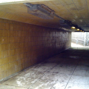 Underpass before