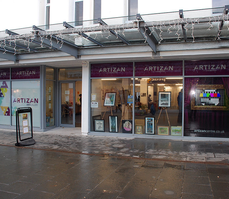 We converted a empty shop unit into the Artizan Art Gallery and Community Hub