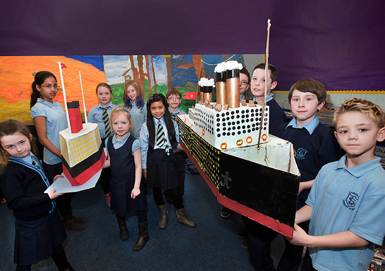 Pupils had completed a project on the Titanic