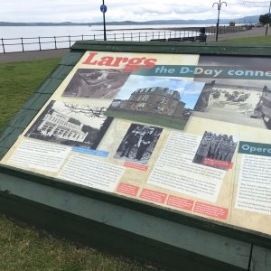 Close-up of panel installation for Largs D-Day Connection
