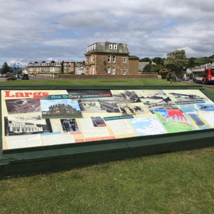 Full view of panel installation for Largs D-Day Connection