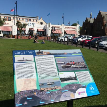 Largs Pier board