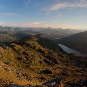 View from Ben Vane at sunrise, midsummer