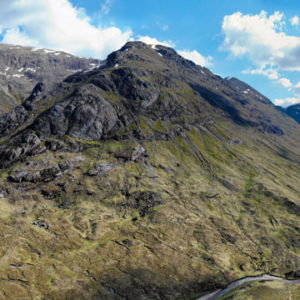 A82 as it passes from Rannoch Moor into Glencoe