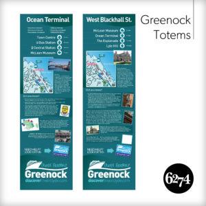 Tourist information totems in Greenock