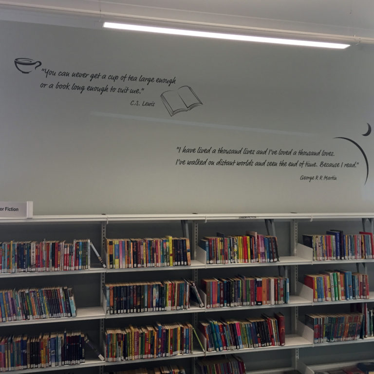 Quotes are great way to add interest to a plain wall